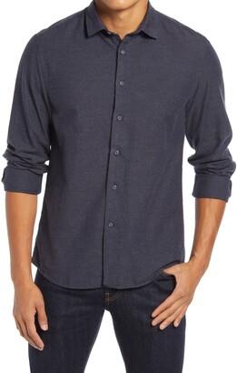 Benson Cotton Blend Flannel Button-Up Shirt