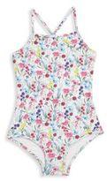 Oscar de la Renta Toddler's, Little Girl's & Big Girl's 1-Piece Botanical Floral Swimsuit