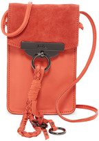 Kooba Dionne Leather & Suede Phone Crossbody Pouch