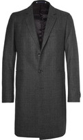 Paul Smith Slim-fit Prince Of Wales Checked Wool-blend Coat - Charcoal