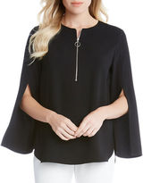 Karen Kane Wild Flower Cape-Sleeve Top