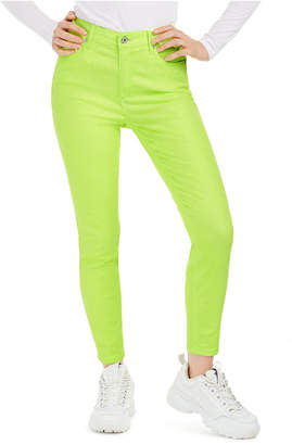 Celebrity Pink Juniors' Neon Colored-Wash Skinny Ankle Jeans