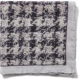 Canali Wool Smudge Print Pocket Hank