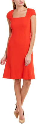 Oscar de la Renta Wool Sheath Dress