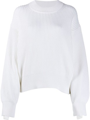 Helmut Lang balloon sleeve knitted jumper