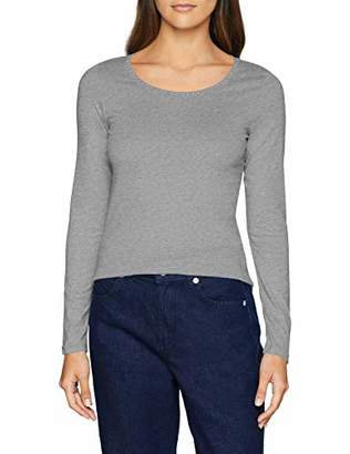 S'Oliver Women's 14.811.31.6377 Long Sleeve Top, (Silver Grey Melange 9700), 20 (Size: )