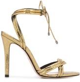 Schutz metallic high heel sandals