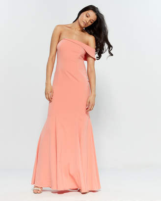Jay Godfrey Papaya Seaworth Asymmetrical Gown