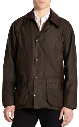Barbour Corduroy Collar Waxed Jacket