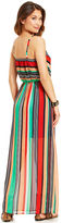 Ruby Rox Juniors' Striped Illusion Maxi Dress