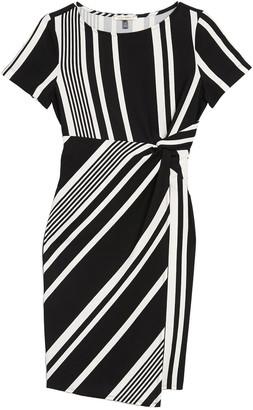 Tash + Sophie Striped Side Knot Sheath Dress