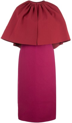 Gucci layered cape dress