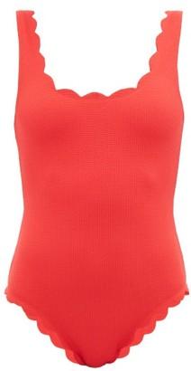 Marysia Swim Palm Springs Scalloped-edged Swimsuit - Red
