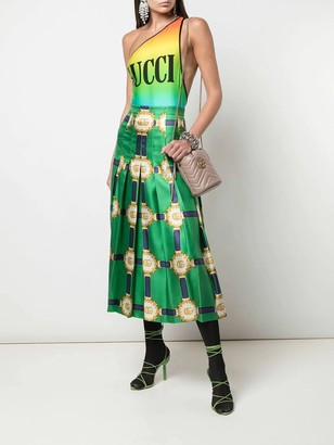 Gucci Green Double G Patterned Midi Skirt