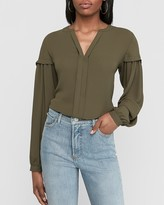 Express Pleated Balloon Sleeve Blouse