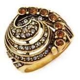 Heidi Daus Swarovski Crystal Object de Art Cocktail Ring