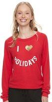 Jerry Leigh Juniors' Love Holidays Sweatshirt