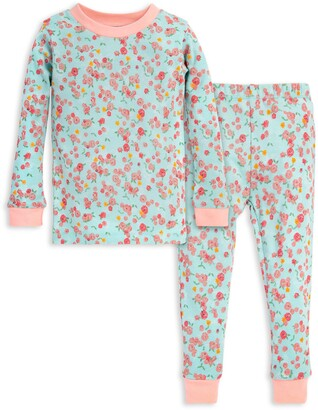 Burt's Bees Ditsy Floral Organic Cotton Toddler Snug Fit Pajamas