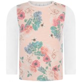 GUESS Girls White & Pink Floral Top