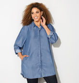 Avenue Hidden Button Denim Tunic