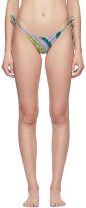 Versace Underwear Purple Barocco Mosaic Bikini Briefs