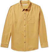 Outerknown - Transitional Brushed Organic Cotton-flannel Shirt - Mustard