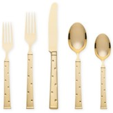 Kate Spade Larabee Dot 5-Piece Gold Place Setting Flatware