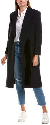 Sandro Monde Wool-Blend Coat