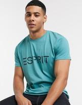 Esprit logo t-shirt in turquoise