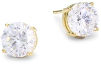 Adriana Orsini 18K Goldplated Sterling Silver & Round Cubic Zirconia Stud Earrings