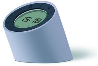 Edge - White Light Alarm Clock - Grey - Blue
