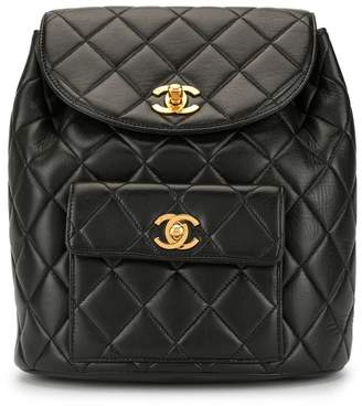 Chanel Pre-Owned diamond quilted chain backpack