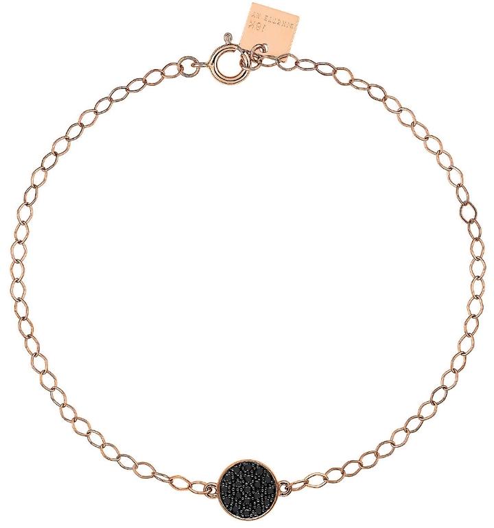 ginette_ny Mini Black Diamond Ever Disc Bracelet