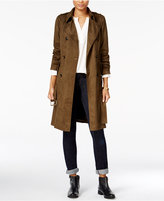 Maison Jules Faux-Suede Trench Coat, Only at Macy's