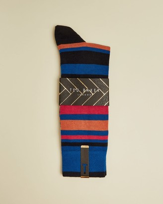 Ted Baker Irregular Stripe Cotton Blend Socks