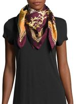 Saks Fifth Avenue Status Square Silk Scarf