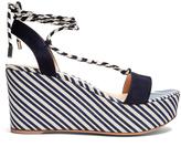 Gianvito Rossi Striped wedge sandals