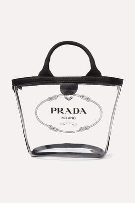Prada Canvas-trimmed Printed Pvc Tote - Black