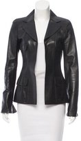 Chanel Tailored Leather Blazer