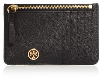 Tory Burch Robinson Leather Zip-Top Card Case