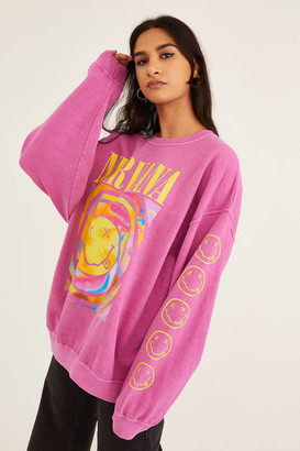 Urban Outfitters Nirvana Smile Overdyed Sweatshirt
