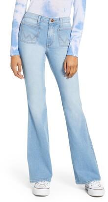 Wrangler Patch Pocket Flare Jeans