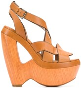 Thumbnail for your product : Alaïa Pre-Owned 2000's Cutout Wedge Sandals