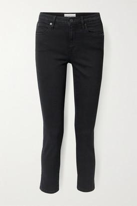 SLVRLAKE Lou Lou Cropped Mid-rise Slim-leg Jeans - Black