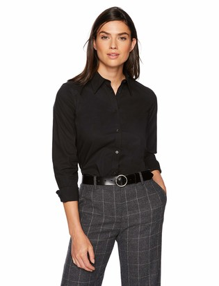 Chaps Women's Long Sleeven Non Iron Broadcloth Shirt