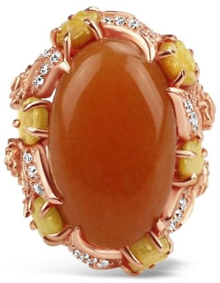 Bellus Domina Gold Plated Aventurine Cocktail Ring