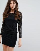 Vila Laser Cut Mini Dress