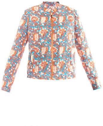 Carven Floral silky bomber jacket