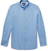 Hackett - Slim-fit Grandad-collar Cotton-chambray Shirt