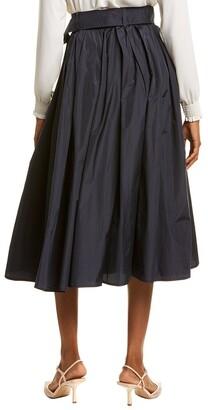 Max Mara Cinese Silk-Blend A-Line Skirt